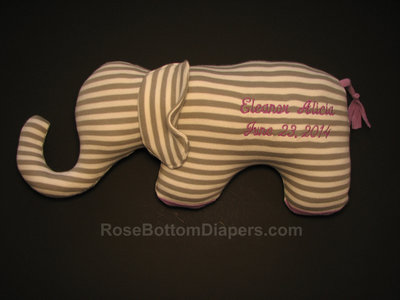 Elephant made of baby pajamas